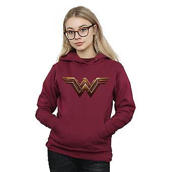 DC Comics Women's Justice League Movie Wonder Woman Emblem Hoodie
