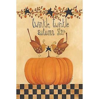 Twinkle Twinkle Autumn Star Poster Print by Bernadette Deming (12 x 18)