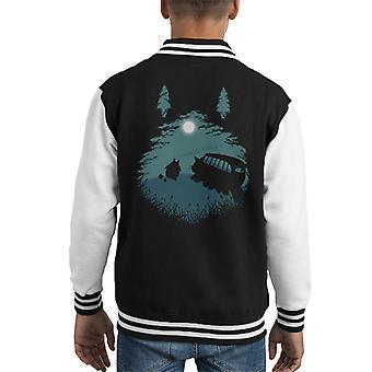 Walking Home Catbus My Neighbor Totoro Kid's Varsity Jacket