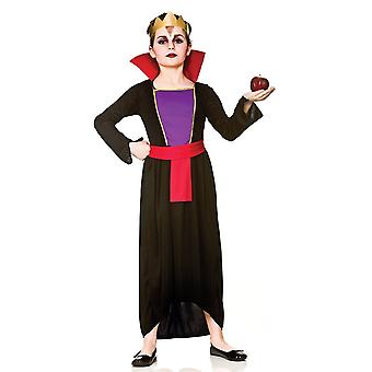 Wicked Queen ragazze bambini Fancy Dress Costume Abito & corona