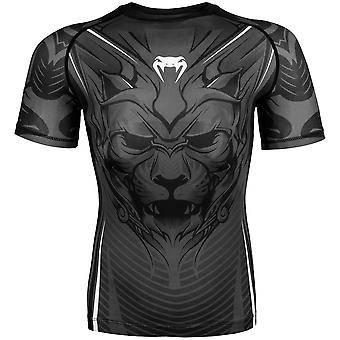 Venum Bloody Roar Dry Tech Short Sleeve MMA Rashguard - Gray