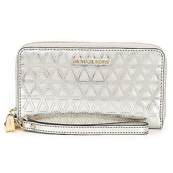 Michael Kors Metallic gesteppte Multifunktions Phone Wallet - metallische Silber - 32H7GF6E3K-104