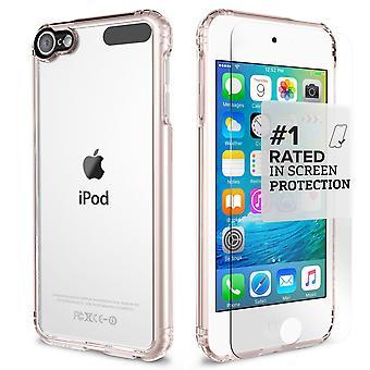 SaharaCase® iPod Touch 6ª / 5ª generación caja de oro rosa, paquete de Kit de protección claro con ZeroDamage® vidrio templado
