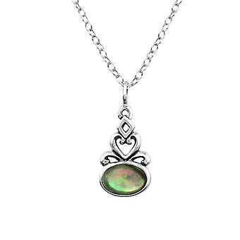 Oval - 925 Sterling Silver Jewelled Necklaces - W30860x