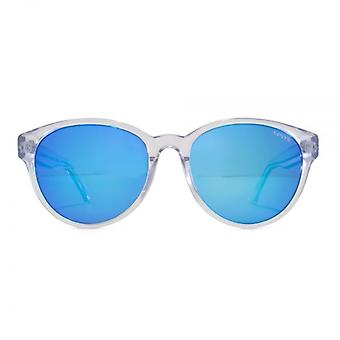 Levis Peaked Round Sunglasses In Clear Polarised