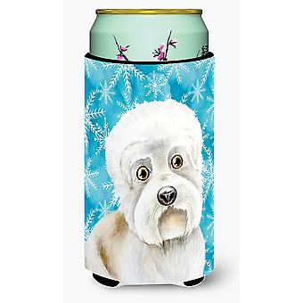 Dandie Dinmont Winter Tall Boy Beverage Insulator Hugger
