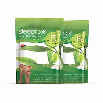Sleeptox Detox Foot Patches - 20 Patches (2 pakker) - afvænning mund Patches - Evolution slankende