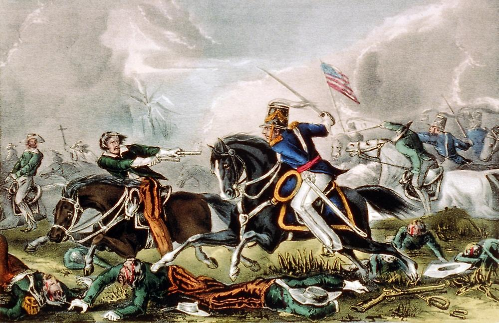 Mexican-American War Battle of Churubusco 1847 Poster Print by Science Source