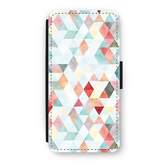 Samsung Galaxy S7 Edge Flip Case - Coloured triangles pastel