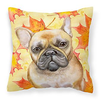 Carolines Treasures  BB9949PW1414 French Bulldog Fall Fabric Decorative Pillow