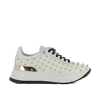RUCO line women's 4002STUDSNATUREBIANCO White leather of sneakers