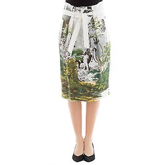 Alberta Ferretti women's 010316451484 white cotton skirt