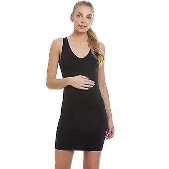 Camille Black Seamfree Maternity Full Slip