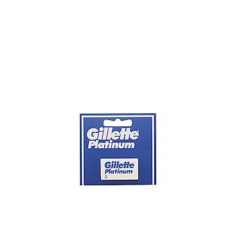 Gillette Platinum Recambios 5 Units Mens New Sealed Boxed