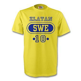 Zlatan Ibrahimovic Zweden Swe T-shirt (geel) - Kids