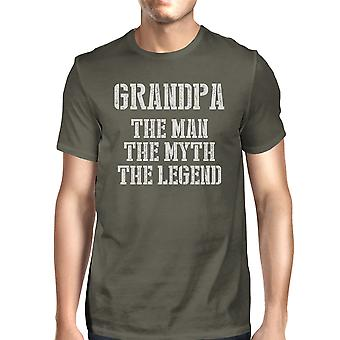 Legend Grandpa Mens Cool Grey Graphic Best Granddad T-Shirt Fun Gift