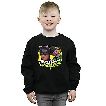 DC Comics Boys Batman TV Series The Riddler Joke Sweatshirt