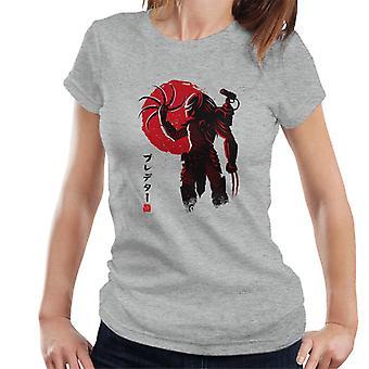 Predator Japanisch Sonne Damen T-Shirt