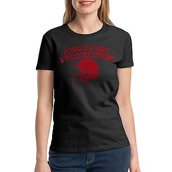 Humor Protection Women's Black T-shirt