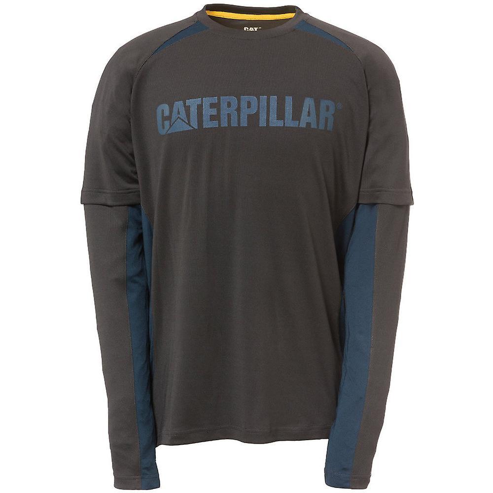 Vêtements de travail CAT Mens expédition 100 % Polyester hommeches longues T-Shirt