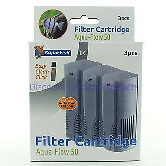 SuperFish Aqua Flow 50 Easy Click Aquarium Filter Cartridge