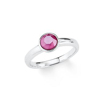 s.Oliver juvel damer sølv ring Crystal rosa 202088