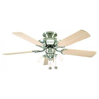 Ceiling Fan Mayfair Combi Steel with Light 107 cm / 42