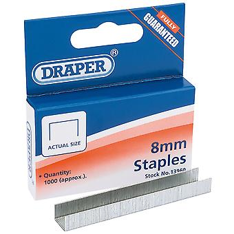 Draper 13960 | 8Mm Steel Staples | Pack Of 1000 Cable Or Wiring Good Quality