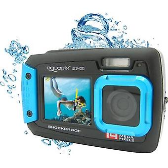 Digital camera Easypix W-1400 14 MPix Black/blue Dustproof, Underwater camera, Front display