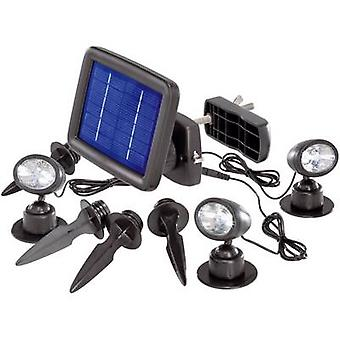 Renkforce Solar spotlight Trio SP303K LED kald hvit svart