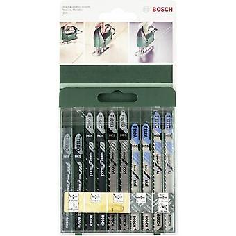 10-piece jigsaw blade set T-shank Bosch Accessories 2609256746 10 pc(s)