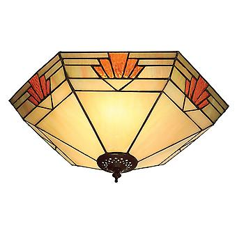 Interiors 1900 Nevada Ceiling Mounted Tiffany Uplighter