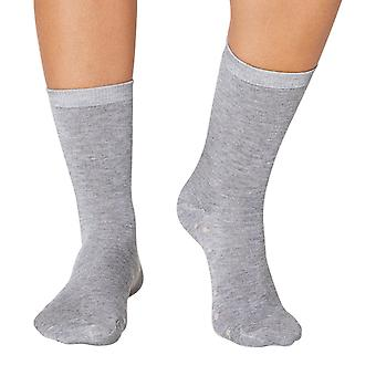 Doris women's bamboo crew socks in grey | By Thought
