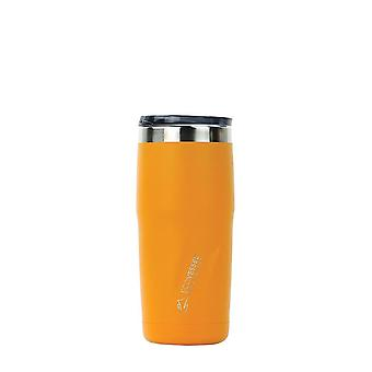 EcoVessel METRO TriMax Insulated Stainless Steel Tumbler - Mystic Mango Powder Coat 16 oz
