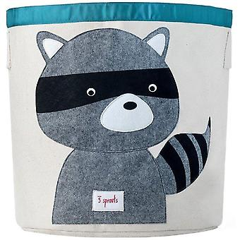 Toy store and Cylindrical Raccoon organic cotton towel bar