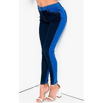IKRUSH Womens Kira Colour Block Skinny Jeans