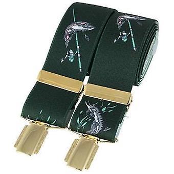 David Van Hagen klassische Fishing Line Mode Klammer - dunkelgrün