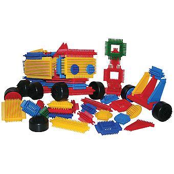 Bigjigs Toys pädagogische Borste Blöcke (272 Stück) Bau Build sortieren