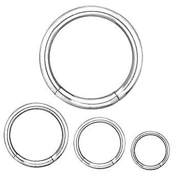Segmencie pierścień Piercing biżuteria ciała, grubości 1,6 mm | Średnica 8-14 mm