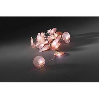 Konstsmide 3167-343 Holiday lights (motif) Pearlescent pigment pellets Inside battery-powered 20 LED Warm white