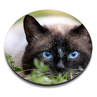 i-Tronixs - Cat Printed Design Non-Slip Round Mouse Mat for Office / Home / Gaming - 9