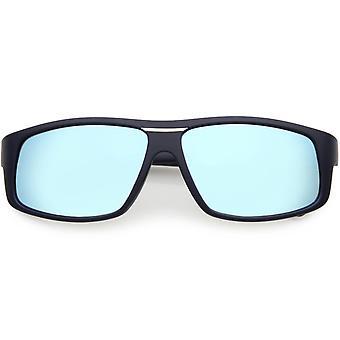 Métal plat hommes d armes Rectangle lunettes de soleil polarisées Lens 58mm 1f31bf4a67d6