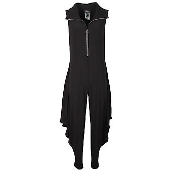 フランク ・ ライマン ブラック ジップアップ ハーレム パンツ スーツ