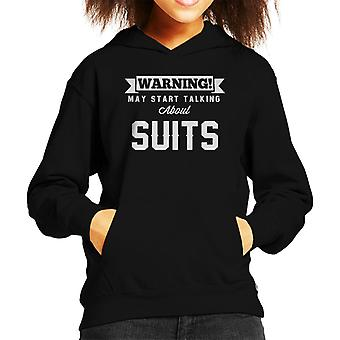 Waarschuwing kan beginnen te praten over Suits Kid's Hooded Sweatshirt