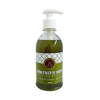 Aleppo Flüssig Seife und Body Wash Seife mit 20% Olivenöl Natur Vegan 350 ml
