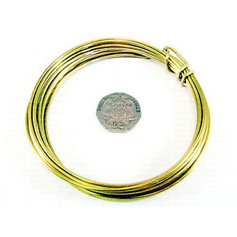 1 × نحاس مطلي ذهبي 1.5 مم × 1.75 م جولة الأسلاك كرافت لفائف W9150