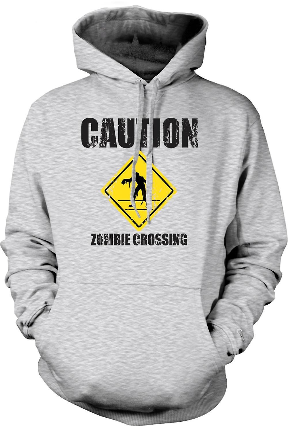 Mens hettegenser - Zombie krysset - Funny - Horror