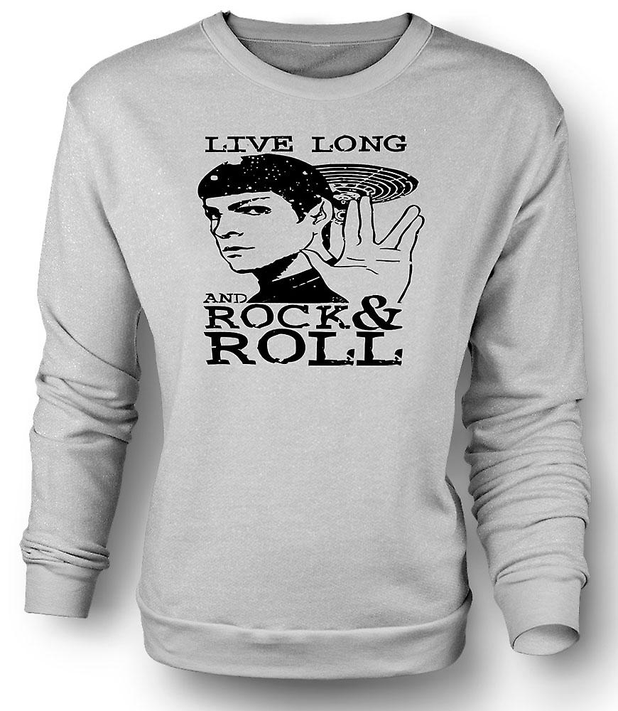 Mens Sweatshirt Spock - Star Trek - Live Long Rock