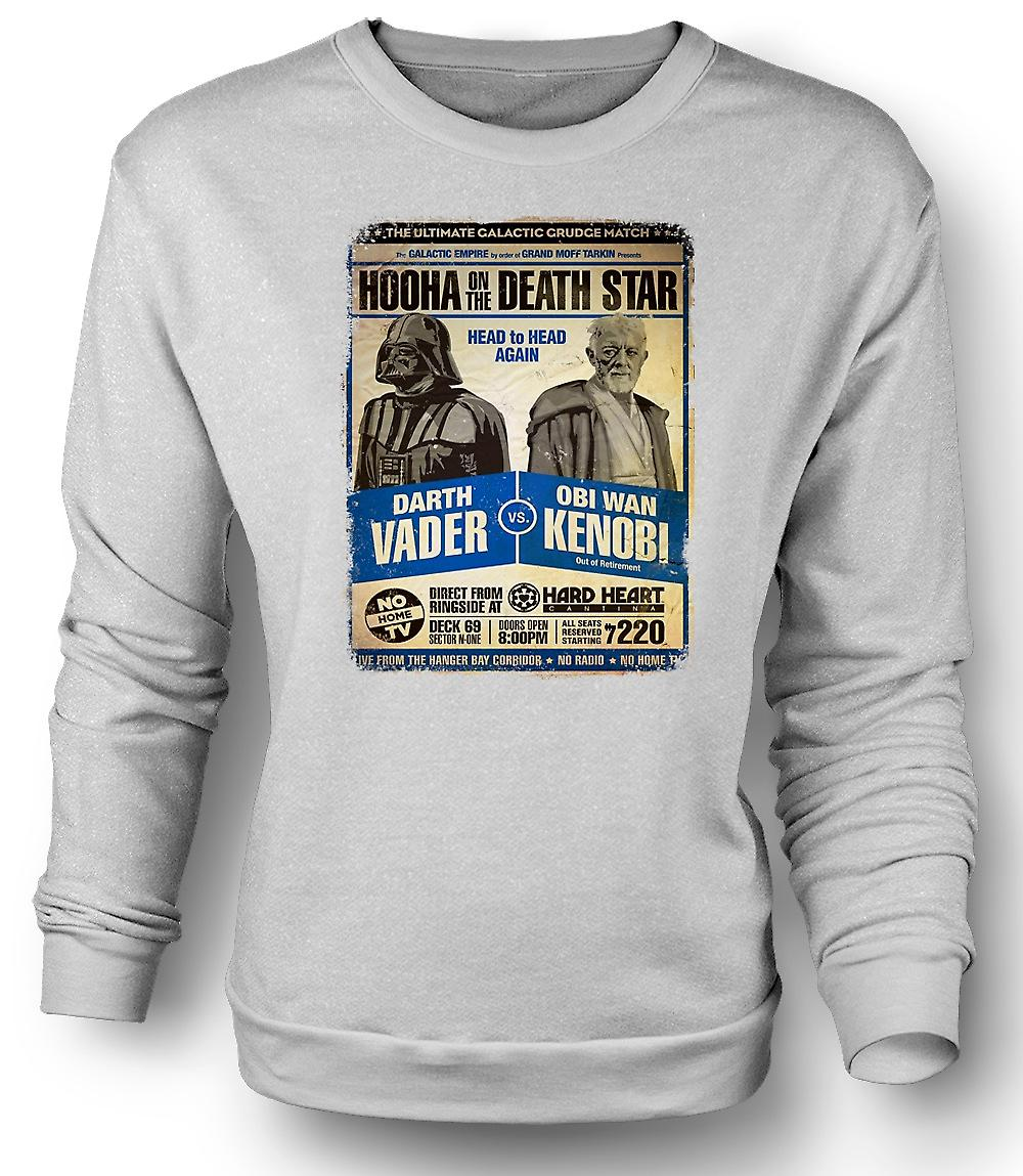 Mens Sweatshirt Vader V Kenobi Grudge Match - Poster