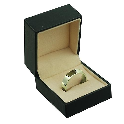 18ct Yellow Gold 6mm plain Flat Wedding Ring